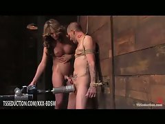 Bound man and his tranny