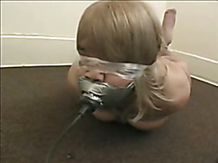 TV in extreme hogtie