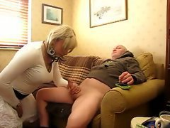 Amateur sissy cocksucker blows him