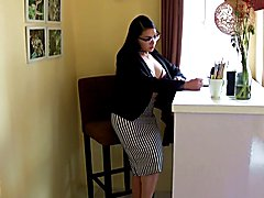 TS Filipina Office Masturbation and Cumshot - clip # 02