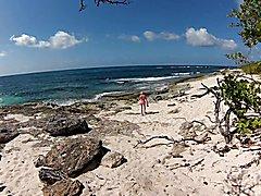 At the wild beach
