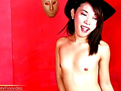Alluring Filipino ladyboy plays with her suckable cock head