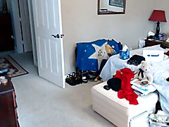 Amateur Tgirl cum in live cam bedroom  - clip # 02