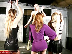 Four trannies dance and fuck in private anal drilling orgy