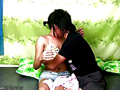 Horny dude thursts thick cock deep inside this femboys ass  - clip # 02