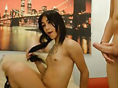 Horny Couple Take Turns in Cock Sucking  - clip # 02