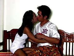 Exotic ladyboy teenie with big lips gives a serious blowjob  - clip # 02