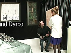 Tranny Art Rich chick with dick fucking her man slave  - clip # 03