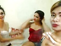 Naughty Shemale Trio Ass Licking And Fucking