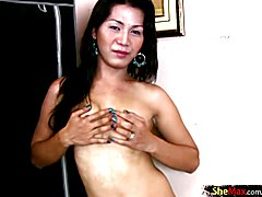 Asian TS girlfriend gets her asshole penetrated by big shaft  - clip # 02