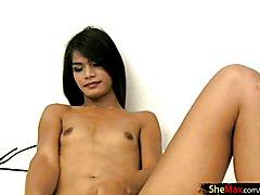 Leaked FULL movie of Teen ladyboy having sex in black bikini