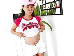 Asian ladyboy Coco solo