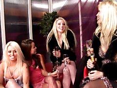 Wild sexy party at the bar with many horny sluts