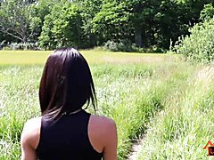 Ladyboy Thippy69 Jerk in the Wood