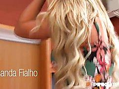 Nasty Bareback Threesome! Amanda Fialho & Barbara Perez