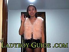 Loving Ladyboy In Sheer Pantyhose