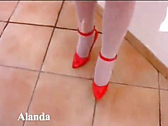 Alanda Dumont White Stockings.mp4