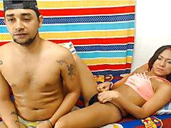 Latina Tranny and boyfriend