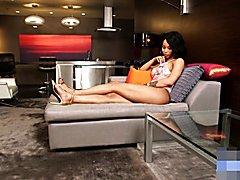 Ebony Shemale Megan Snow's Sexy Feet