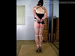 Hooded Strangled and Nipple Clamped