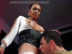 Latina ts dom ass fucks sub after rimming