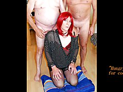 facial cumshots for sexy redhead crossdresser