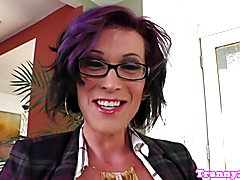 Spex trans rimmed before wanking bigcock
