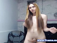 Sizzling Hot Tranny in Braces Dancing Naked