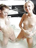 Sweet shemale teenies in a tub