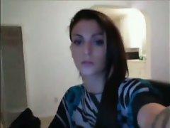Gorgeous amateur tgirl webcam show