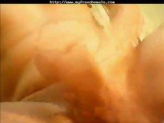 Webcam tgirl cums in hand