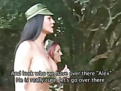 Shemale soldier threesome
