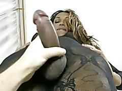 Black Shemale handjob