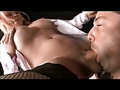Hot big cock tranny face fucks her boy