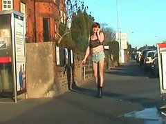 Sissy strutting in public