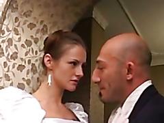 italian bride threesome with a transex