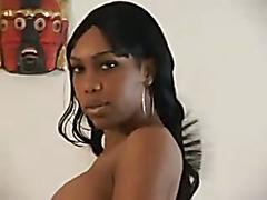 Hot Ebony Shemale ramming