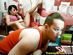 10 Inch Big Cock Tranny Masturbating