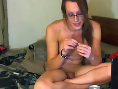 Solo webcam tranny plays