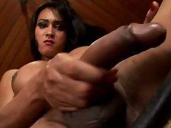 Big sexy tits Brazilian masturbates