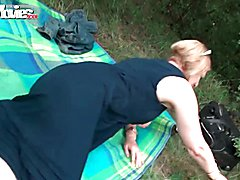 FunMovies German mature housewife fucked outdoor