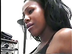 sexy ebony shemale gets fuck bareback by a musclar black guy