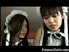 Teen Futanari Cums in Her Own Face!