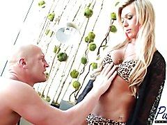 Hot blonde Aubrey Kate fucks her man bareback