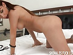 I want to see you try your first shemale cock