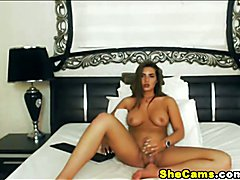 Big Tits Shemale Jacking Off Sexily