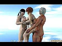 Milky shemales threesome Release 3D animation