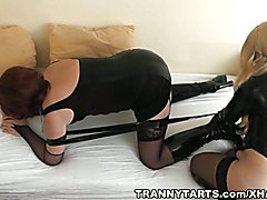 Tranny sluts banged by guys and girls