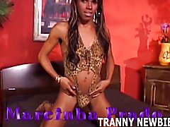 This big black tranny is going to pound my ass so hard