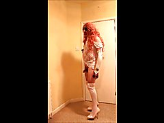 Pink haired slut in baby pink boots